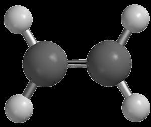 Eteno: hidrocarboneto do tipo Alceno.