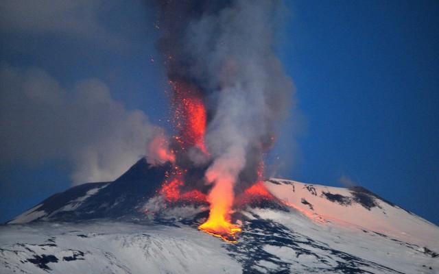 Vulcão em atividade