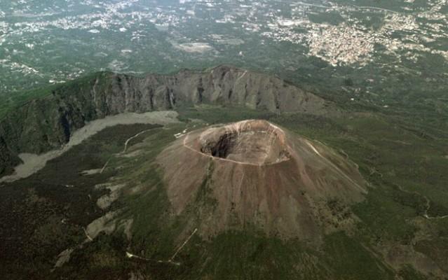 Vulcão Vesúvio, localizado na Itália. Exemplo de vulcão inativo.