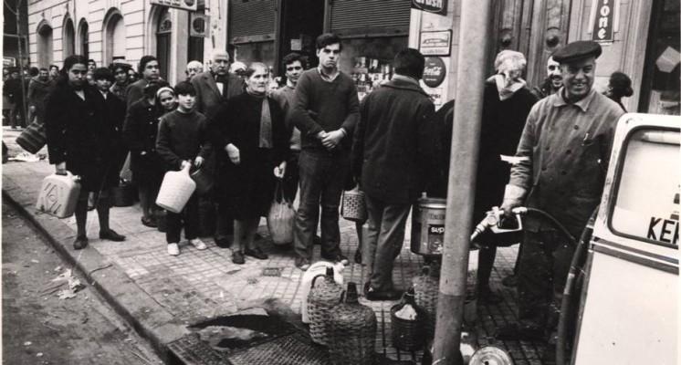 Crise do petróleo: criavam-se filas para conseguir comprar o combustível