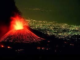 Vulcão ativo próximo à regiões habitadas