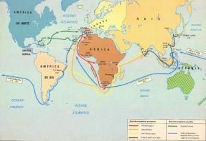 Rotas marítimas portuguesa e espanhola no início da Idade Moderna