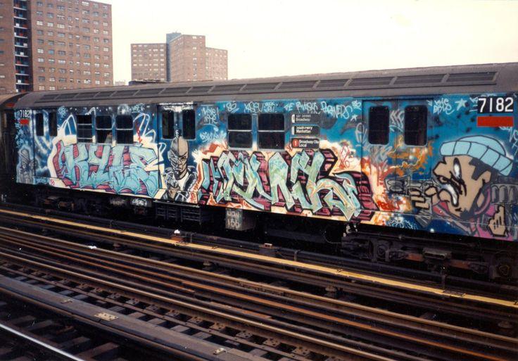 Metrôs grafitados em Nova York
