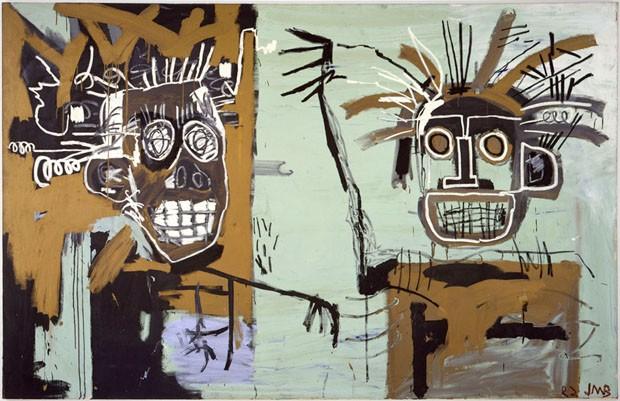Jean-Michel Basquiat, Sem título (Duas Cabeças em Ouro), 1982