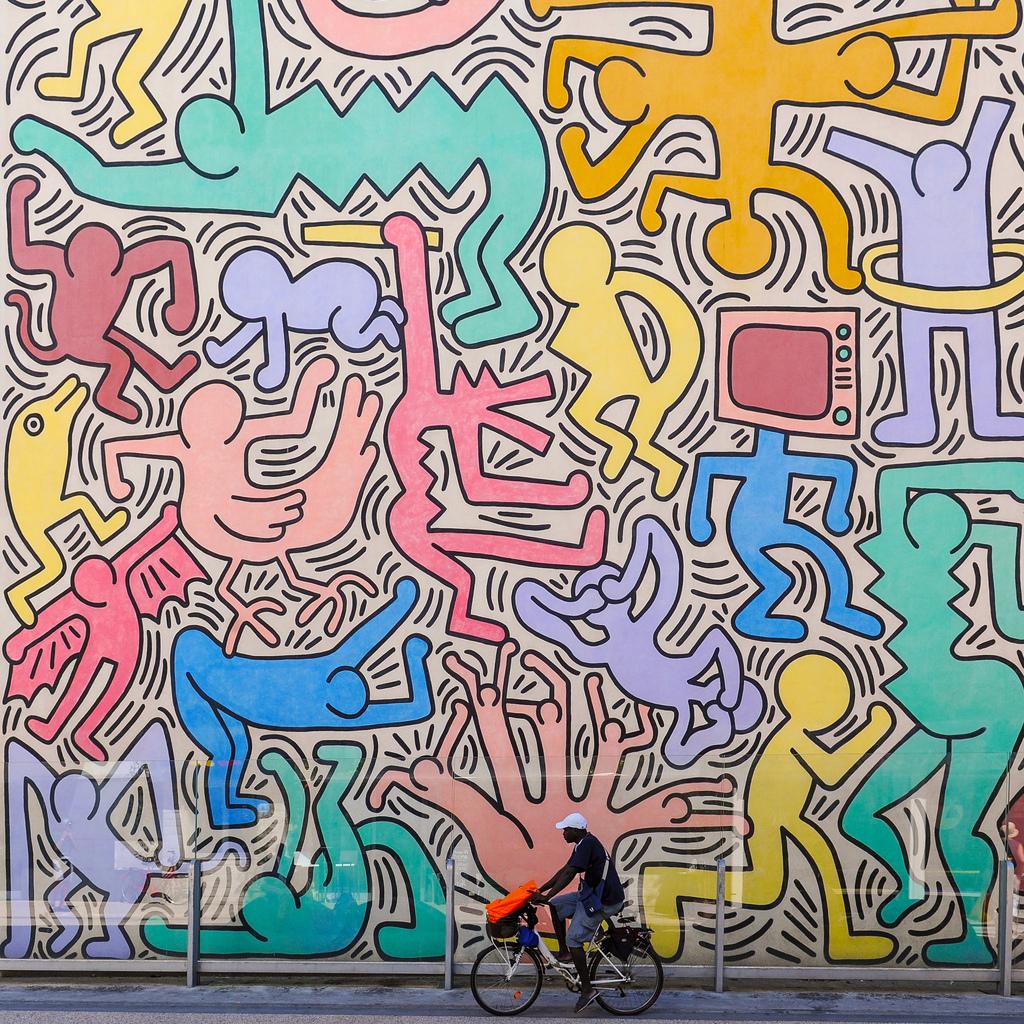Tuttomondo, Keith Haring, Pisa, 1989