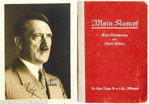 O livro escrito por Hitler, Mein Kampf