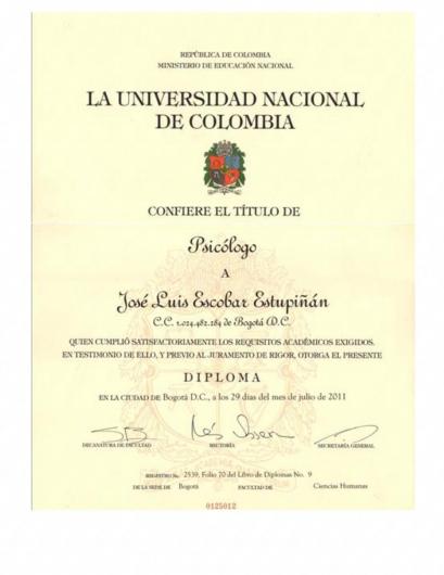 José Luis Escobar Estupiñan  - Multimedia