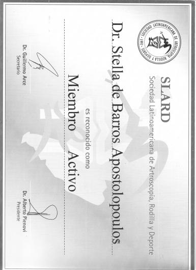 Dra. Stella de Barros Apostolopoulos - Galeria de fotos