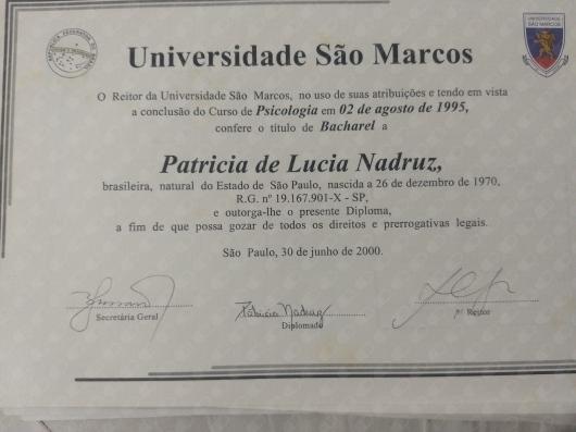 Patricia De Lucia Nadruz - Galeria de fotos