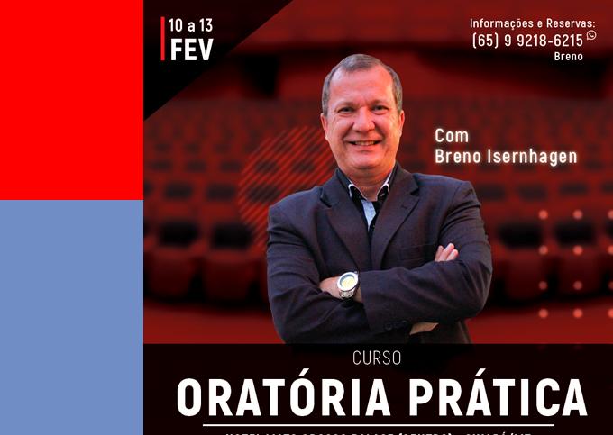 ORATÓRIA PRÁTICA - Cuiabá/MT - 10/02 a 13/02/2020