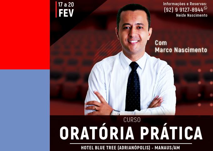 ORATÓRIA PRÁTICA - Manaus/AM - 17/02 a 20/02/2020