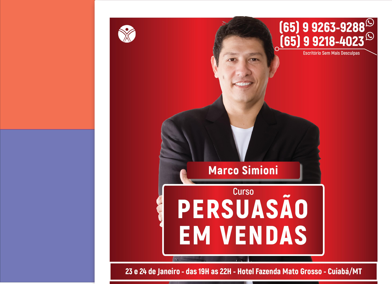 Persuasão em Vendas - Cuiabá/MT - 23/01 a 24/01/2019