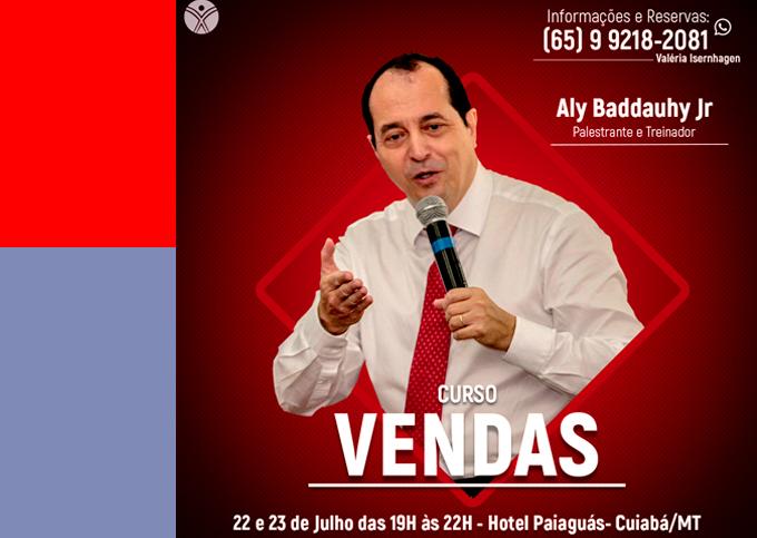 VENDAS - Cuiabá/MT - 22/07 a 23/07/2019