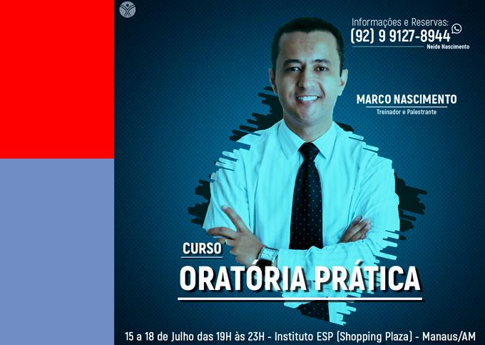 ORATÓRIA PRÁTICA - Manaus/AM -  22/07 a 25/07/2019