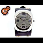 Relógio EF bracelete unissex / ilhos preto