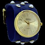 Relógio EF bracelete feminino, cor azul