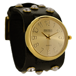 Relógio EF bracelete feminino, cor marrom