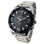 Relógio EF metal masculino branco