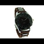 Relógio EF metal masculino marrom