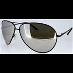 Óculos EF metal preto / lentes espelhadas