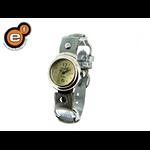 Relógio de argolas Feminino em Aluminium e pulseira na cor prata