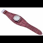 Relógio EF bracelete feminino avestruz vinho