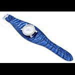 Relógio EF bracelete feminino avestruz azul