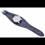 Relógio EF bracelete feminino avestruz cinza