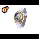 Relógio EF feminino branco coração