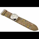 Relógio EF bracelete unissex / ilhos bege