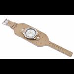 Relógio EF bracelete feminino avestruz caramelo