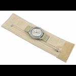 Relógio EF bracelete feminino bandana bege, fecho cm velcro
