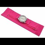 Relógio EF bracelete feminino bandana pink, fecho cm velcro