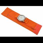 Relógio EF bracelete feminino bandana laranja, fecho cm velcro