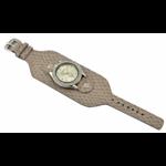 Relógio EF bracelete feminino cobra bege