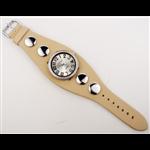 Relógio EF bracelete feminino bege