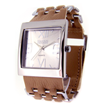 Relógio EF bracelete feminino trança metal bege