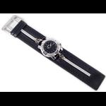 Relógio EF bracelete unissex / ziper preto