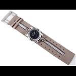 Relógio EF bracelete unissex / ziper cinza