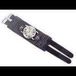 Relógio EF bracelete unissex preto fecho com velcro