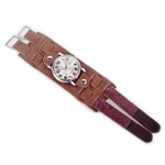 Relógio EF bracelete unissex marrom fecho com velcro