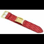 Relógio EF bracelete feminino cordão vermelho / dourado