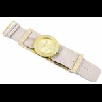 Relógio EF bracelete feminino franzido metálico off