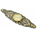 Relógio EF bracelete feminino vazado onça