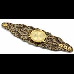 Relógio EF bracelete feminino vazado onça/marrom