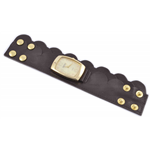 Relógio EF bracelete feminino babado lateral marrom