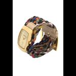 Relógio EF trança feminino colorida