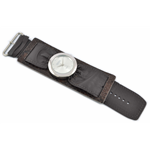 Relógio EF bracelete feminino franzido marrom tabaco
