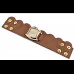 Relógio EF bracelete feminino babado lateral caju