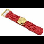 Relógio EF trança feminino ascari carmim/dourado